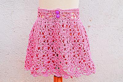 3 - Crochet Falda de flores a crochet y ganchillo muy fácil y rápida por MAJOVEL CROCHET