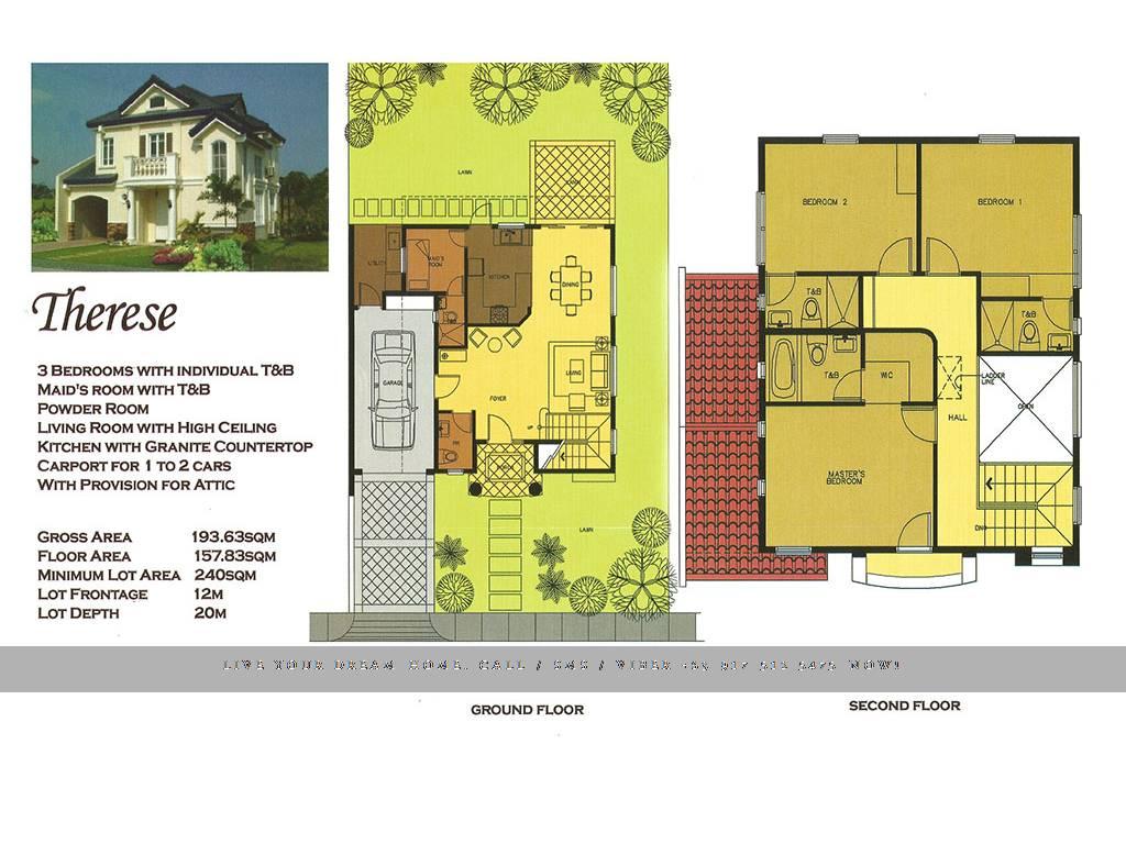 Floor Plan of Versailles Alabang - Therese   House and Lot for Sale Daang Hari Las Pinas