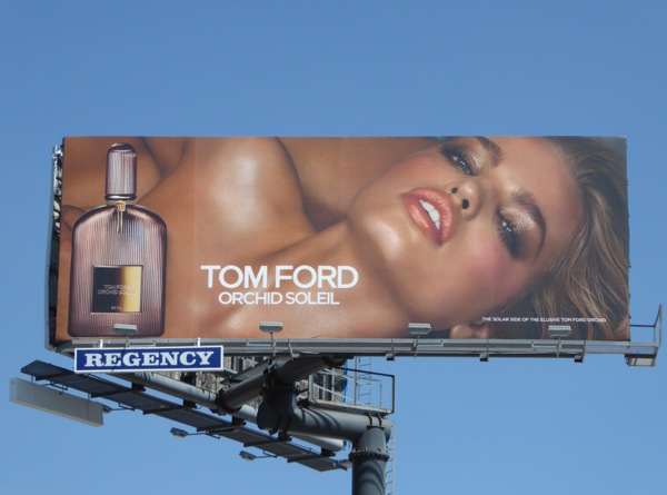 Tom Ford Orchid Soleil fragrance billboard