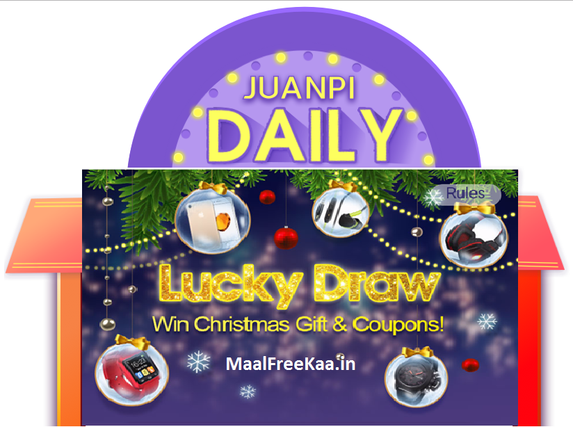 Lucky Draw Win Christmas Gift - Freebie Giveaway Contest