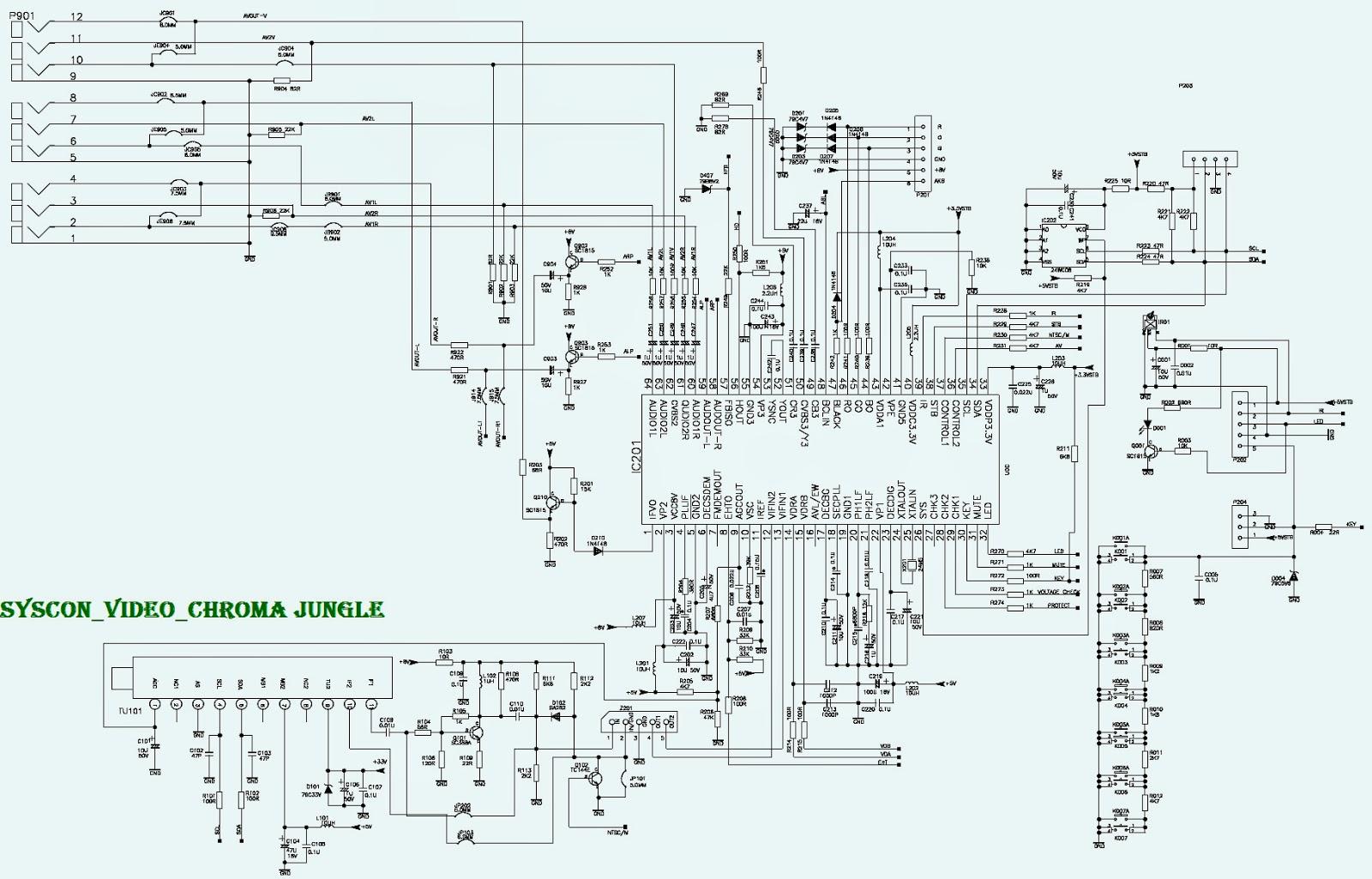 21K77  TCL CRT TV  SCHEMATIC [Circuit Diagram)   Electro