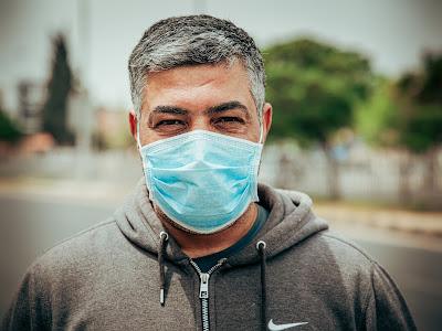 Man Wearing Facemask