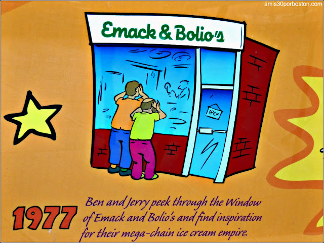 Cartel en la Heladería Emack & Bolio's en Boston