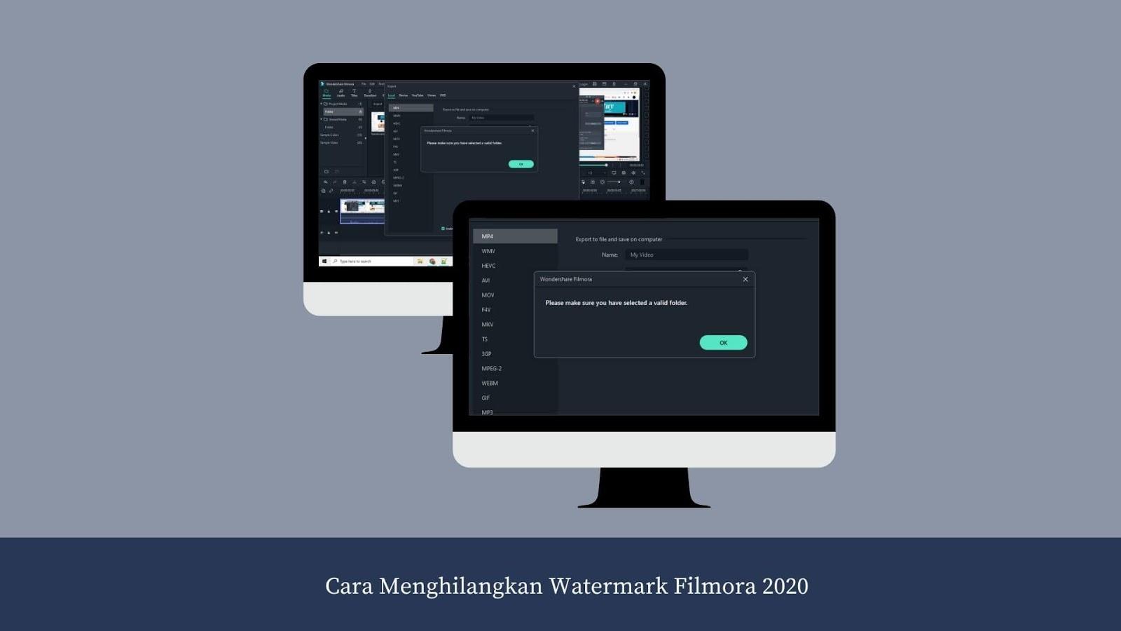 Cara Menghilangkan Watermark Filmora 2020