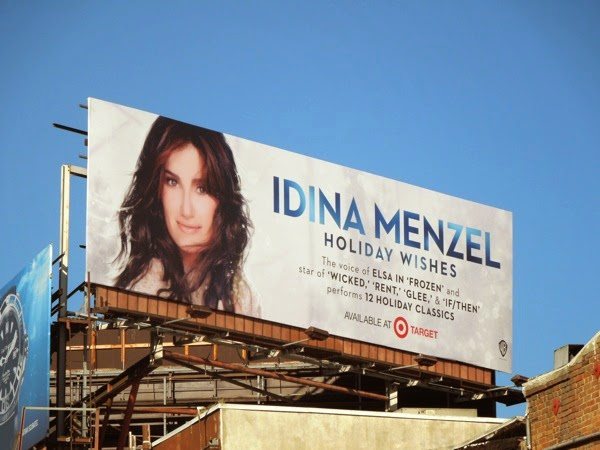Idina Menzel Holiday Wishes album billboard