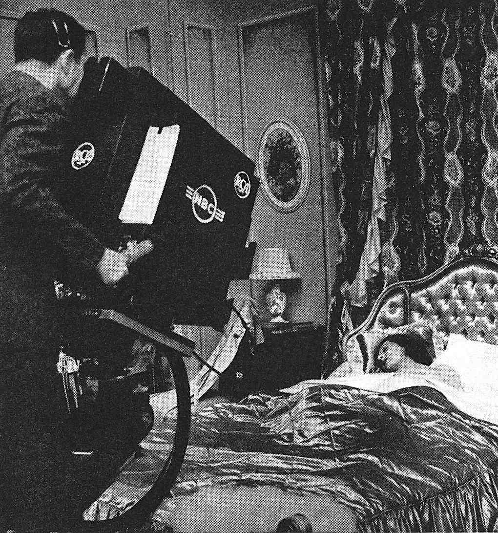 a 1945 NBC television production studio photograph