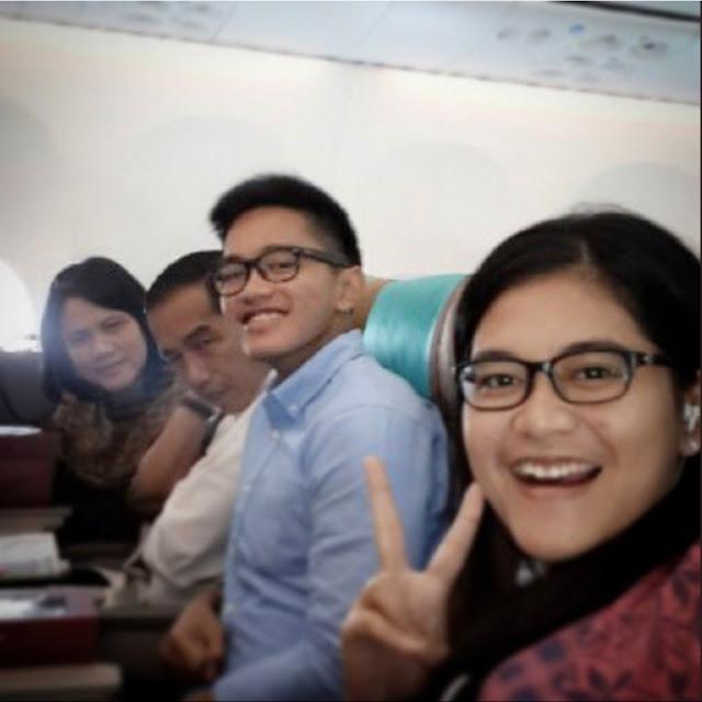Foto di kabin pesawat Garuda Indonesia