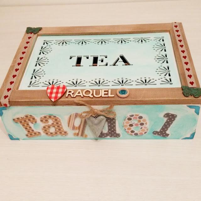 Caja decorada al completo foto única