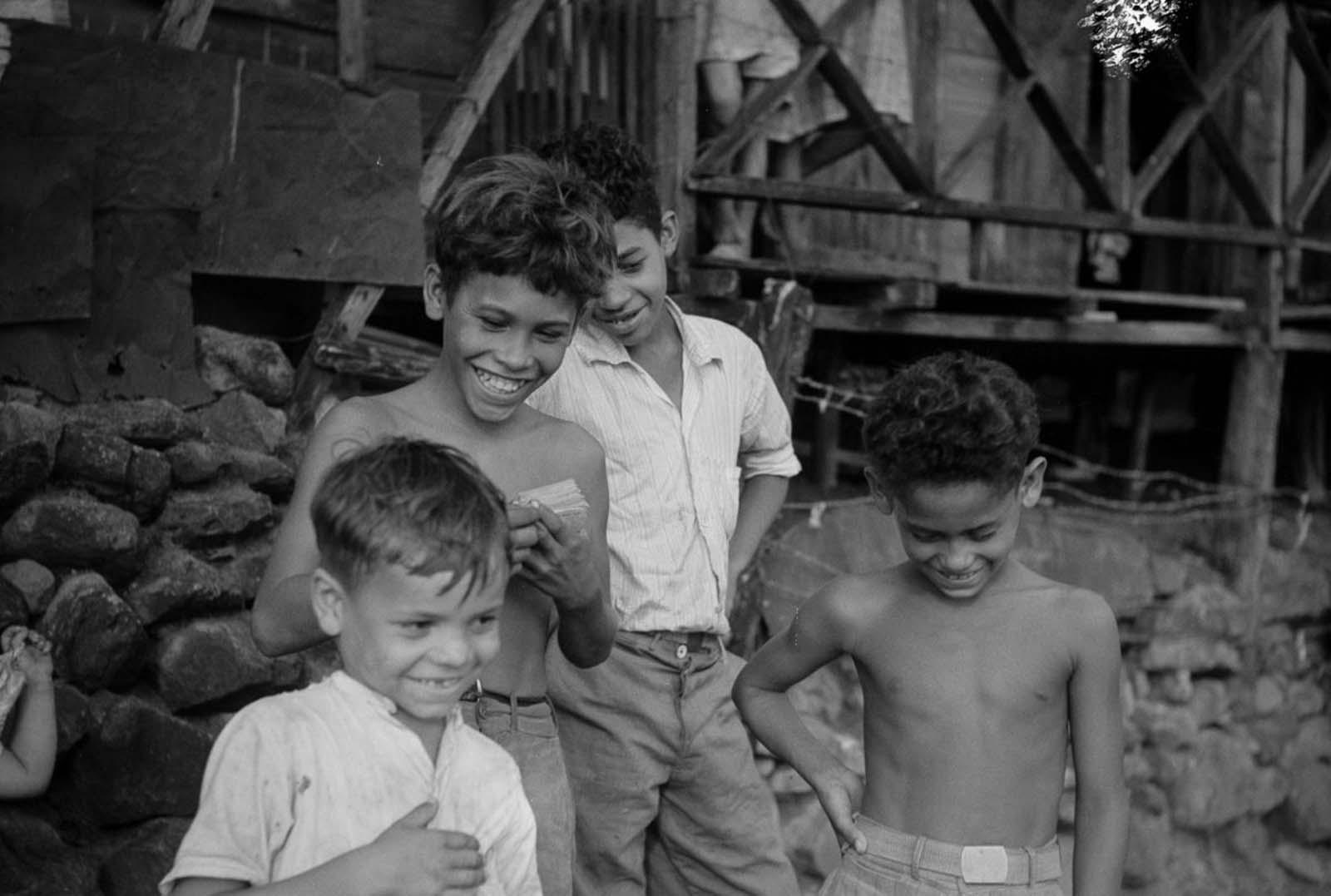Boys in a slum in Yauco.