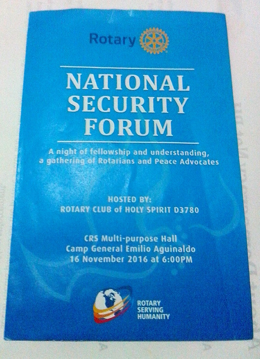 Janina Writes Here: RC National Security Forum: Emerging