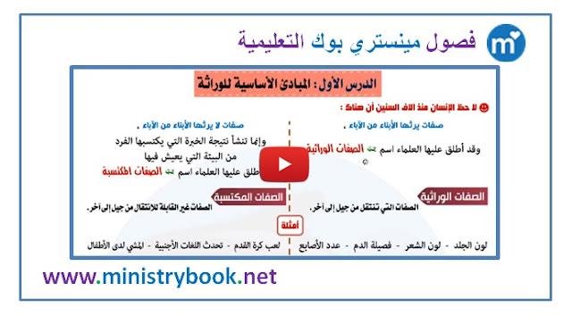 شرح درس المبادئ الاساسية للوراثة - علوم الصف الثالث الاعدادي ترم ثاني 2019-2020-2021-2022-2023-2024-2025