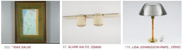 Taideblogi Helsinki (c) Max Salmi, Alvar Aalto, Idman, Orno, Lisa Johansson-Pape