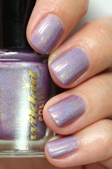 lilac holographic nail polish