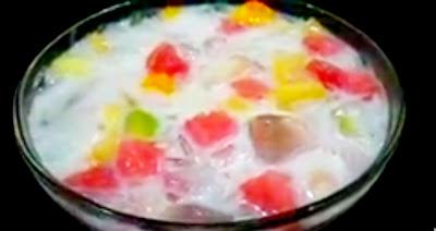 Sop buah minuman menyegarkan untuk buka puasa