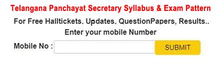 TS Panchayat Secretary Recruitment Syllabus