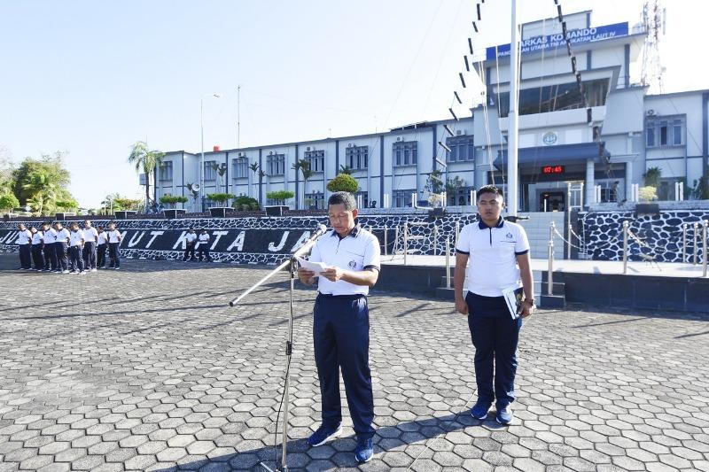 Danlantamal IV Pimpin Bacakan Amanat Panglima TNI