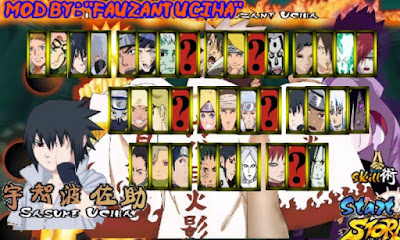 Download Cheat Naruto Senki MOD Unlimited Coin Money All Skill Unlocked Free Full Characters Uchiha Apk Game Narsen Terbaru Gratis