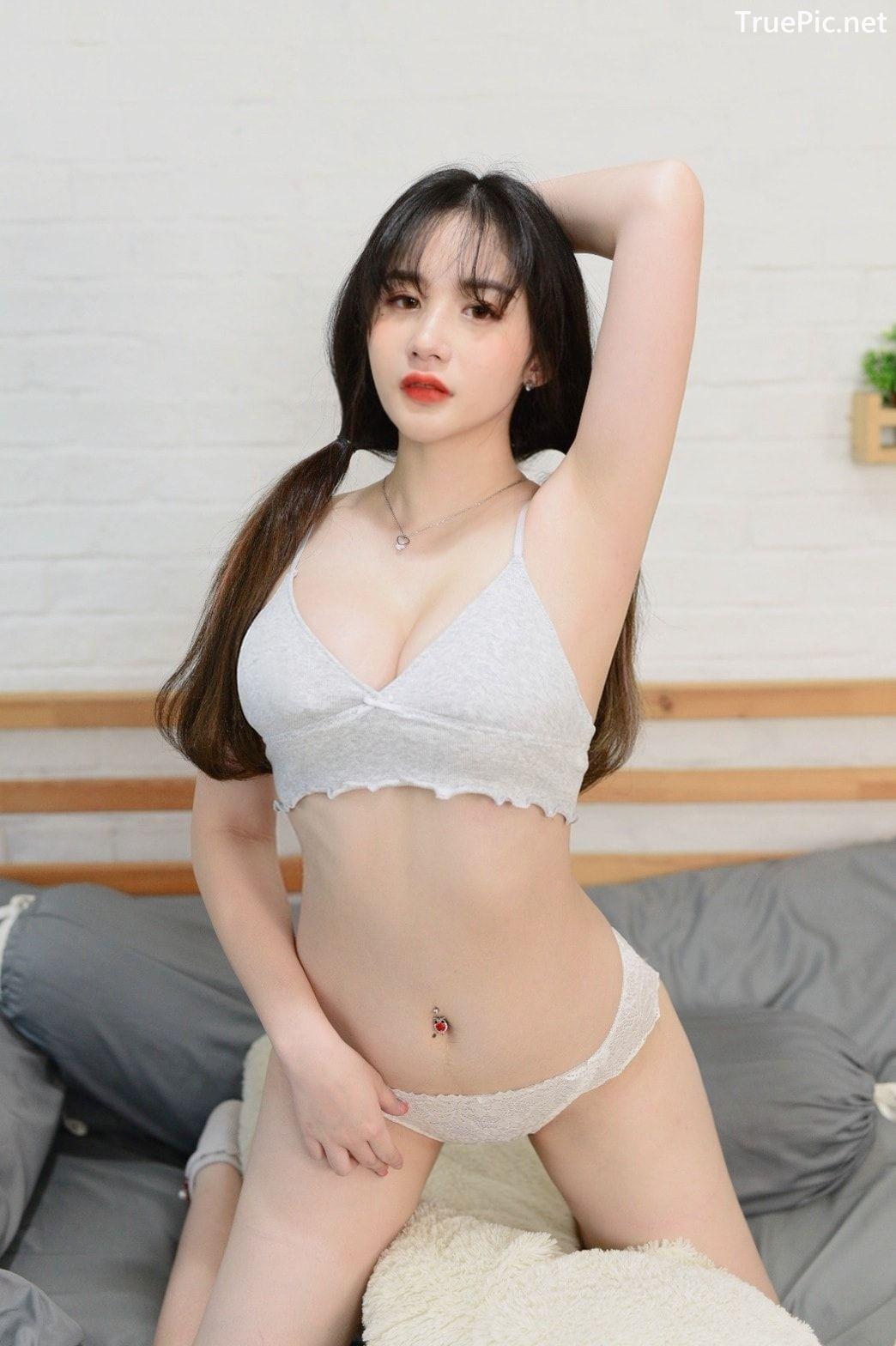 Image Thailand Model - Akair Manita - Sexy White Lingerie - TruePic.net - Picture-1