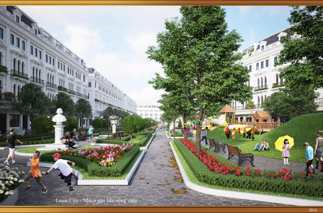 Thiết kế liền kề nhà vườn Louis City