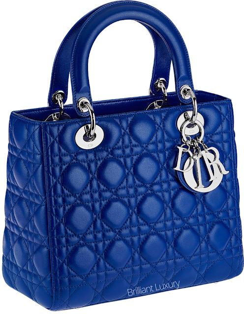 ♦Dior classic royal blue Lady Dior bag #dior #bags #ladydior #brilliantluxury