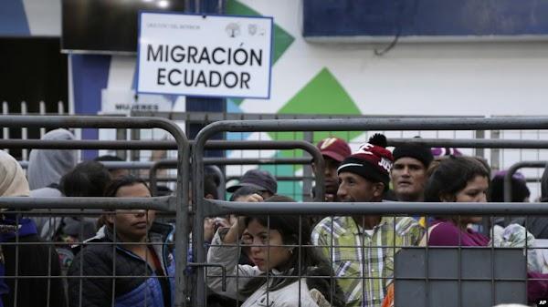 Ecuador inicia censo de migrantes venezolanos para optar a visa humanitaria
