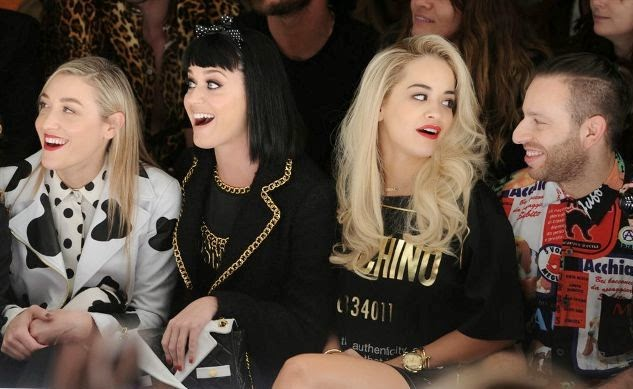 Mia Moretti, Katy Perry, Rita Ora, Saul Milton, Moschino Fashion Show, Moschino Fall Winter, fashion show