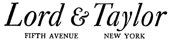 The Department Store Museum: Lord & Taylor Lord And Taylor Horizontal Logo