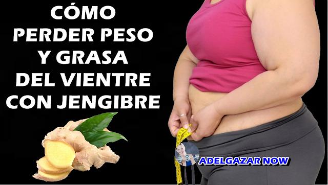 CÓMO PERDER PESO Y GRASA DEL VIENTRE CON JENGIBRE!