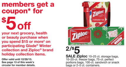 Extreme Couponing Mommy Cheap Ziploc Holiday Bags At Kmart