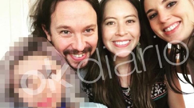 Pablo Iglesias e Irene Montero junto a la diputada boliviana que supuestamente activó los contratos a la consultora Neurona / RRSS