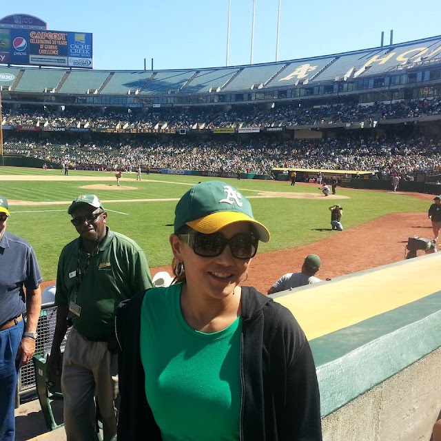 My wife's first Oakland Athletics baseball game