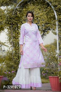 Partywear Sharara With Designer Kurta Sets