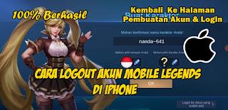 Cara Logout Akun Mobile Legends Di Iphone