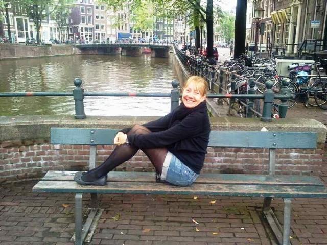Amsterdam no outono e usando a dica do short e meia calça