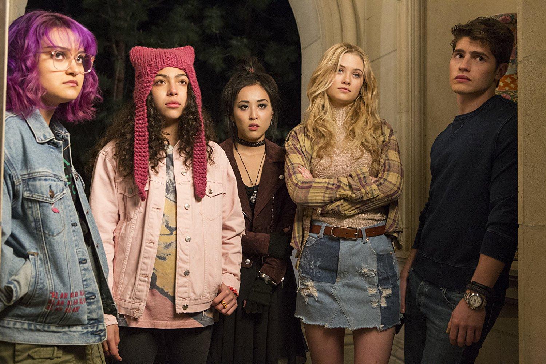 Gert, Nico, Chase, Karoline y Molly, los protagonistas de Runaways de Marvel