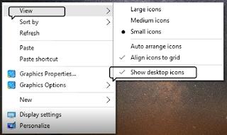 cara memunculkan desktop yang hilang