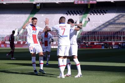 ملخص واهداف مباراة باريس سان جيرمان وميتز (3-1) الدوري الفرنسي