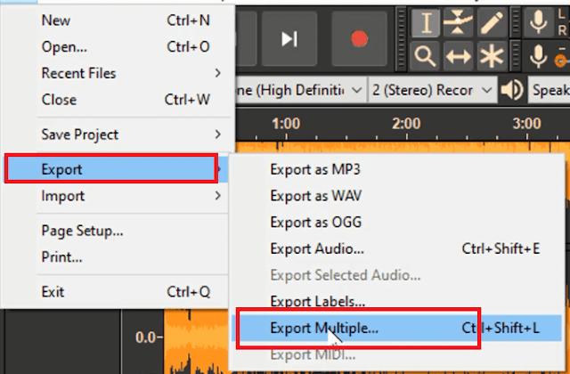 برنامج تقطيع و قص الصوت شرح audacity دورة تعلم واحتراف برنامج أوداسيتي تقطيع ملفات الصوت مجانا