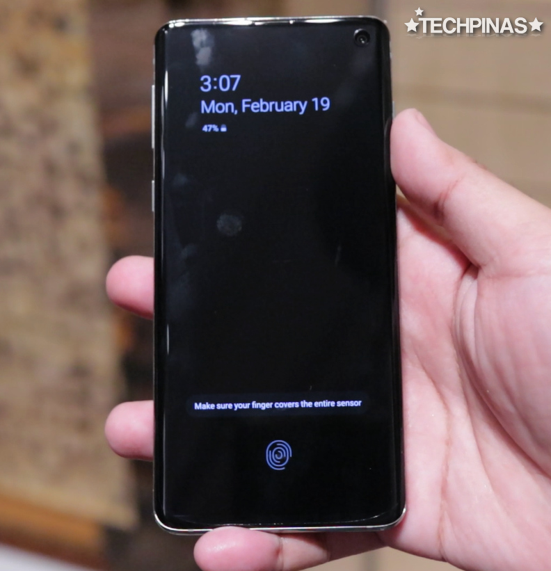 Samsung Galaxy S10 In Display Fingerprint Scanner