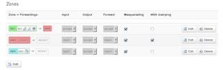 Firewall Zones settings