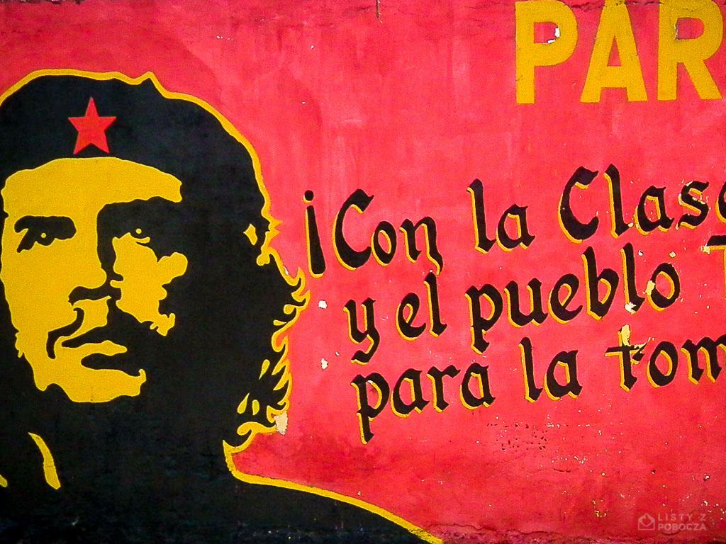 Mural w Carúpano w Wenezueli z wizerunkiem Che Guevary