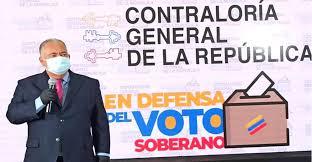 El Contralor General Elvis Amoroso informó  que la CGR juramentada en Defensa del Voto Soberano