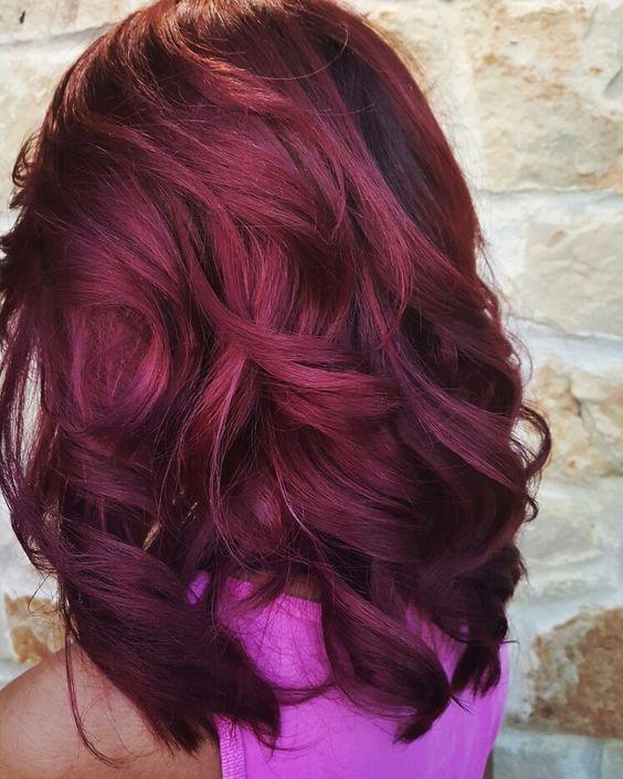 Burgundy Hair Auburn 01