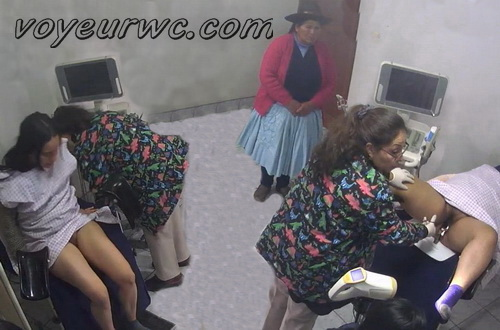 Gyno exam with vaginal ultrasound 01 (Hidden camera in a gyno office with women and their relatives)