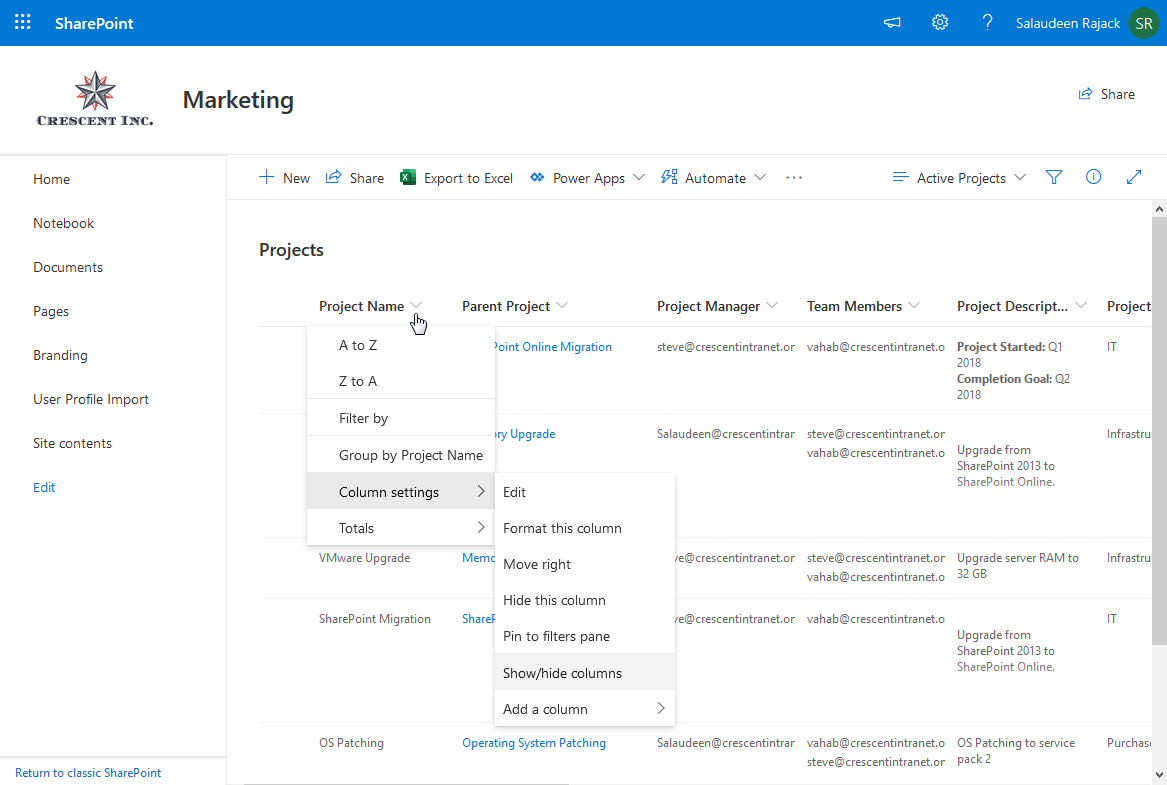 add new view in sharepoint online