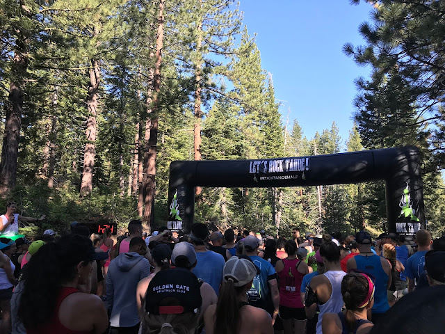 Rock Tahoe Half start line