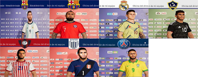 """PES 2020 Sponsors For """"American"""" National Teams by xcdf"""