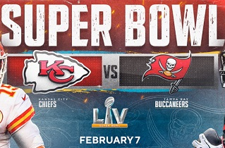 Super Bowl LV-2021, SBLV, 55, start time, online, TV network, watch, live stream, All TV devices.