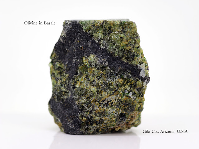Olivine in Basalt Gila Co., Arizona, U.S.A