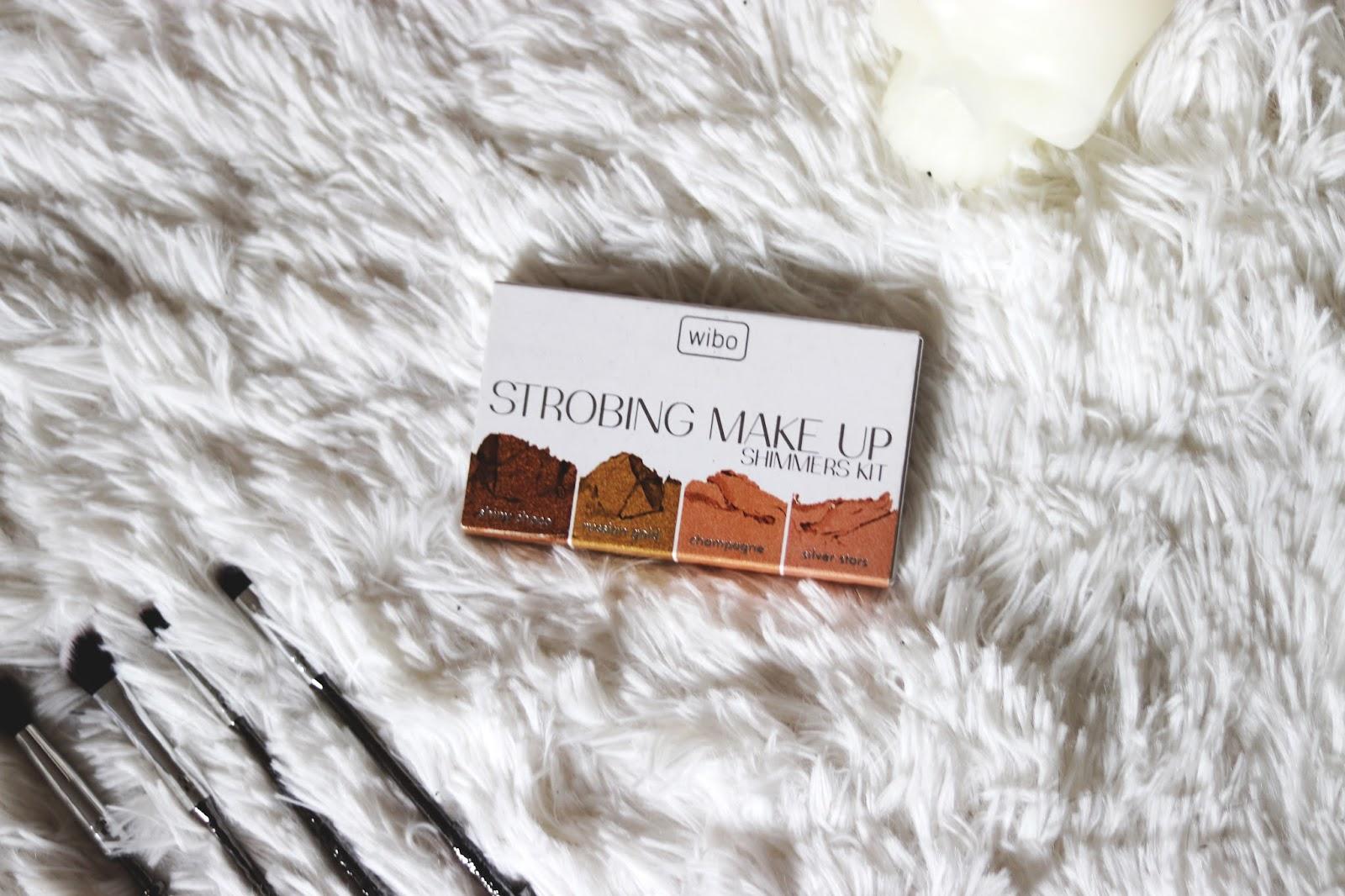 Wibo Strobing Make Up Shimmer Kit,  paletka rozświetlaczy Wibo